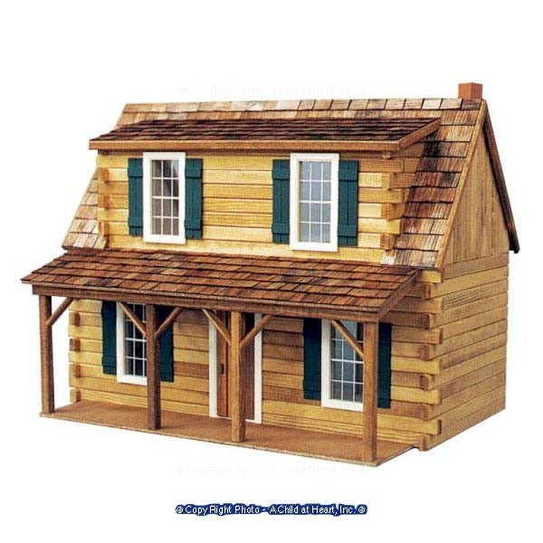 Adirondack cabin dollhouse 39 39 kit 39 39 for Adirondack cabin builders