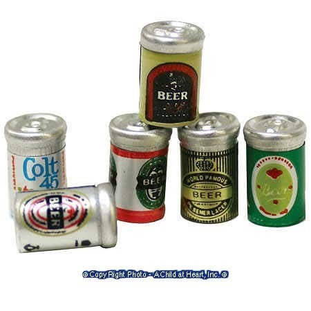 § Disc .60¢ Off - Dollhouse 6 Pack of Can Beer - Product Image