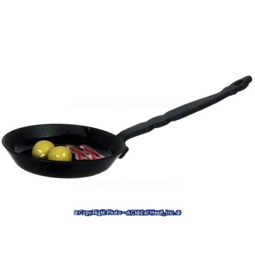 § Disc $1 Off - Dollhouse Pan of Fried Eggs & Bacon - Product Image
