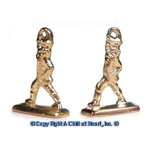 § Disc $3 Off - Dollhouse Brass Bookends / Doorstops - Product Image