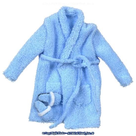 Miniature Men's Long Terry Cloth Robe Set - Product Image