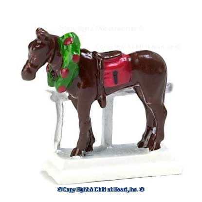 (?) Disc $2 Off - Dollhouse White Horse Door Stop - Product Image