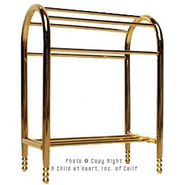 (§) Disc $2 Off - Brass Quilt / Towel Rack - Product Image