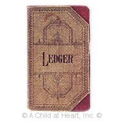 (§) Disc .50¢ Off - Dollhouse Vintage Ledger Book - Product Image