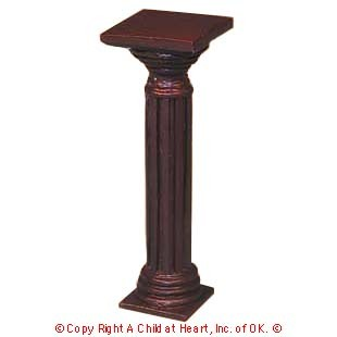 § Disc $3 Off - Dollhouse Wood Pedestal - Product Image