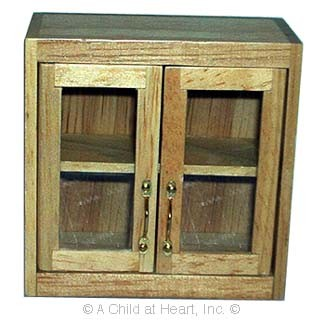 § Disc $2 Off - Dollhouse Large Glass Front Upper Cabinet - Product Image
