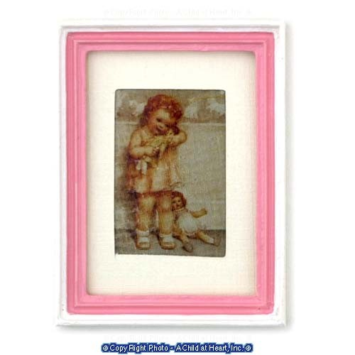 § Disc $2. Off - Framed Girl with Doll - Product Image