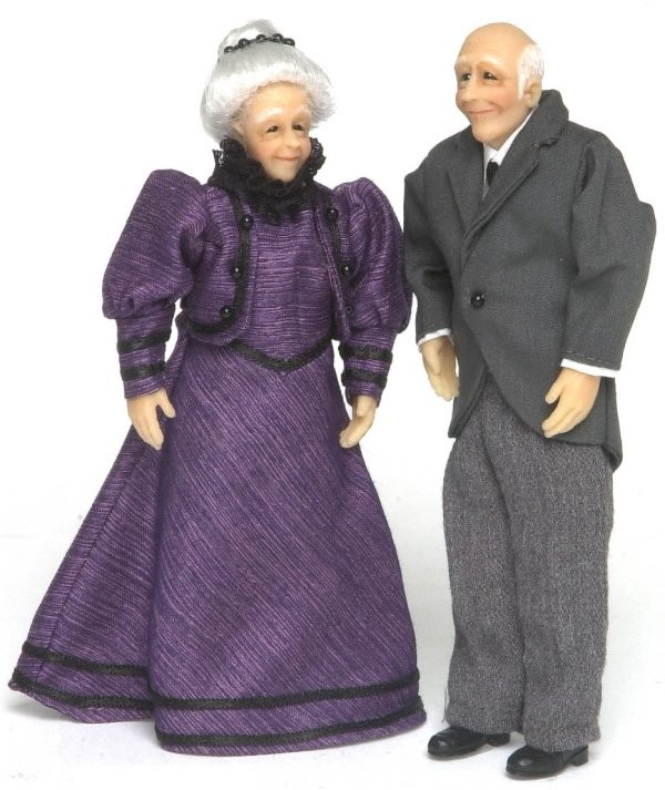 Dollhouse Victorian Grandparents - Product Image